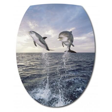 Sticker Abattant de WC Dauphins