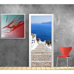Affiche poster pour porte - Escalier mer