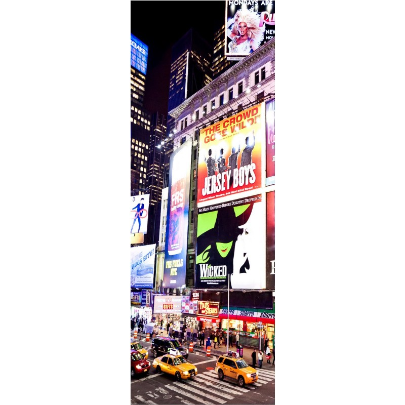 Affiche poster pour porte new york brooklyn art d co stickers for Poster de porte new york