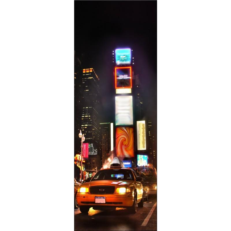 Affiche poster pour porte new york taxi art d co stickers for Poster de porte new york