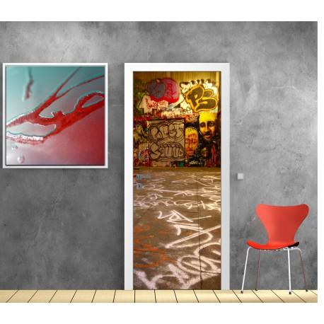affiche poster pour porte tag art d co stickers. Black Bedroom Furniture Sets. Home Design Ideas