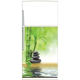 Sticker frigo galets bambous - ou sticker magnet frigo