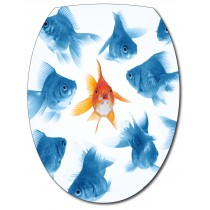 Sticker Abattant de WC Poissons
