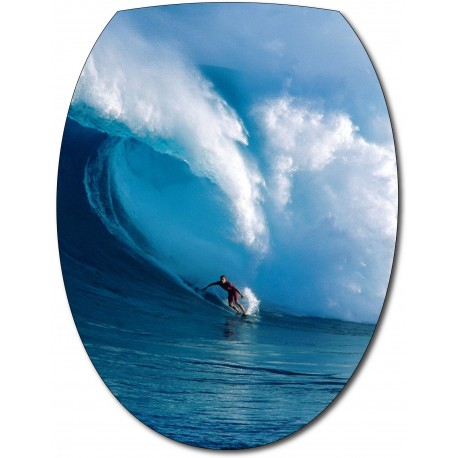 Sticker Abattant de WC Surfeur
