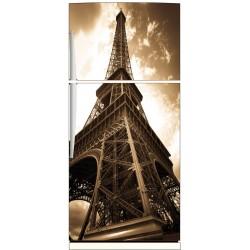Sticker frigo déco cuisine Tour Eiffel Sépia