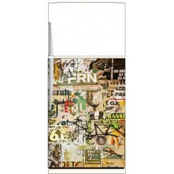 Sticker frigo Graffiti Tag - ou sticker magnet frigo