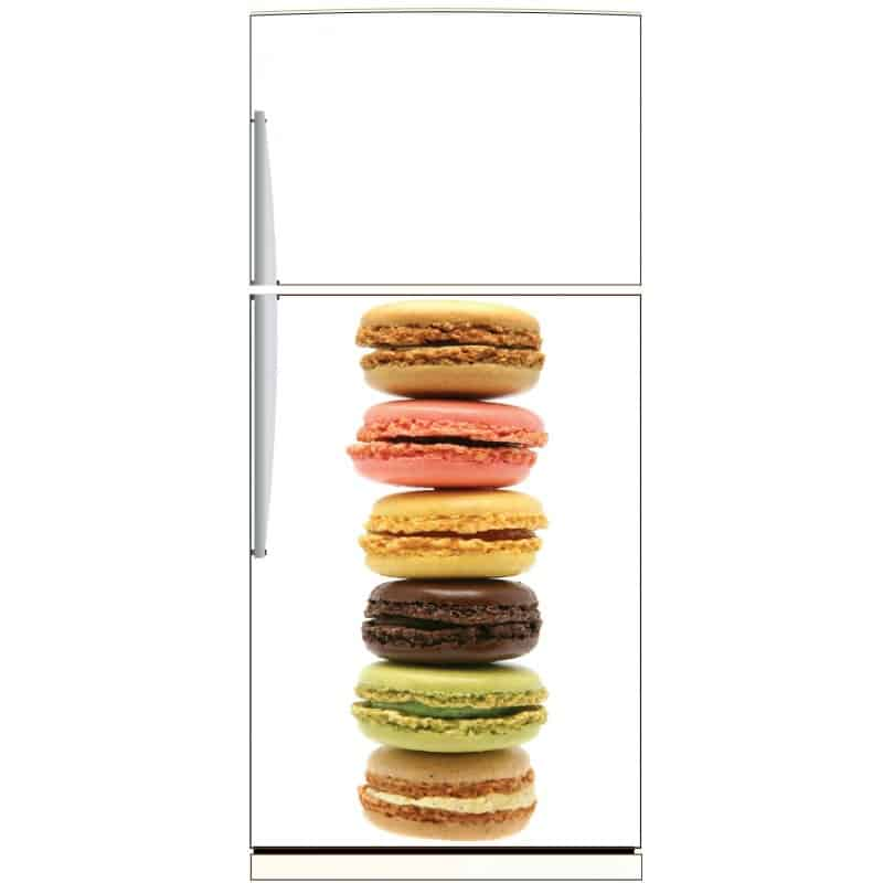 sticker frigo macarons ou sticker magnet frigo art. Black Bedroom Furniture Sets. Home Design Ideas