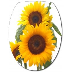 Sticker Abattant de WC Tournesols