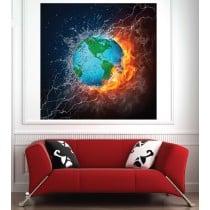 Affiche poster Terre eau et feu