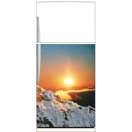 sticker frigo montagne soleil ou sticker magnet frigo art d co stickers. Black Bedroom Furniture Sets. Home Design Ideas