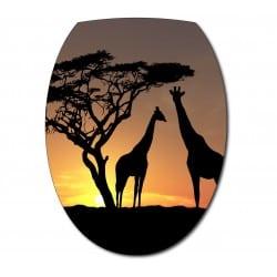 Sticker Abattant de WC Girafe
