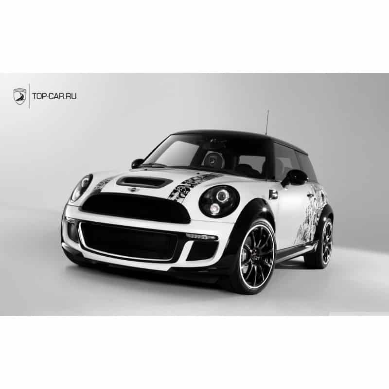 stickers ou affiche poster voiture mini cooper art d co stickers. Black Bedroom Furniture Sets. Home Design Ideas