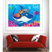 Affiche poster requin lunette