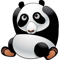 sticker Autocollant enfant Panda