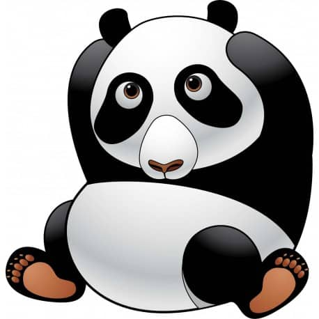 sticker Autocollant Panda