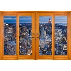 Stickers fenêtre trompe l'oeil New York