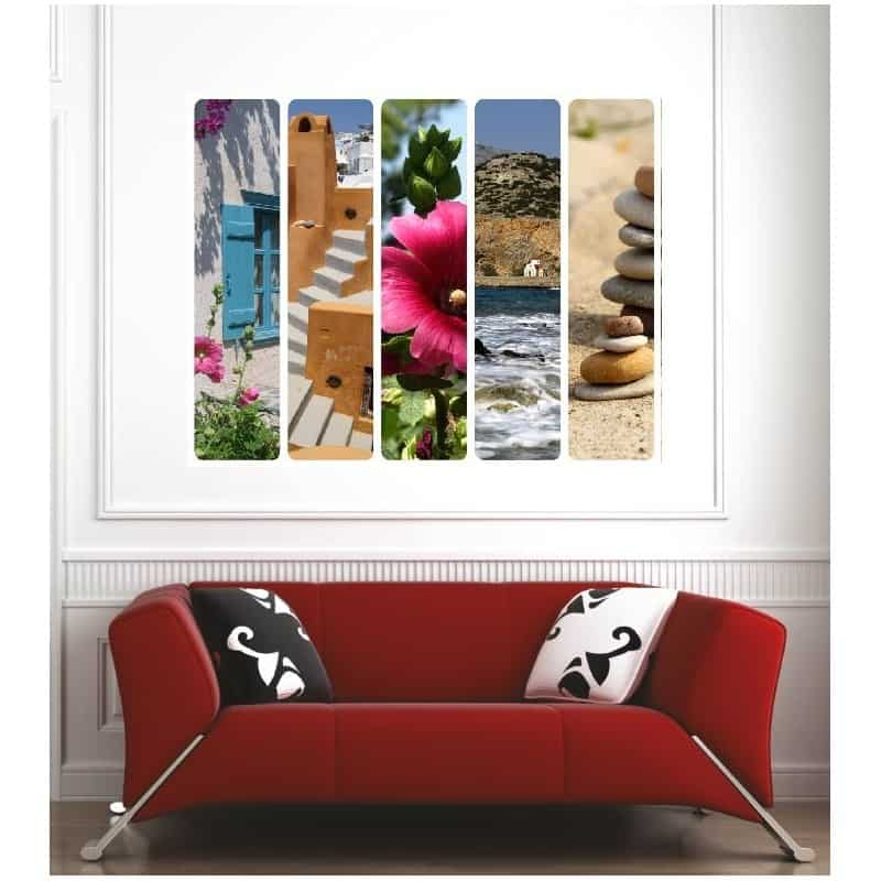 affiche poster galets fleur paysage art d co stickers. Black Bedroom Furniture Sets. Home Design Ideas