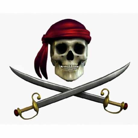 sticker Autocollant Pirate