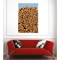 Affiche poster fagot de bois