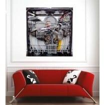 Affiche poster lave vaisselle