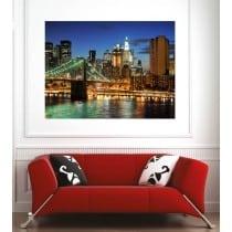 Affiche poster ville pont de Brooklyn