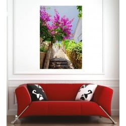 Affiche poster chemin fleuri