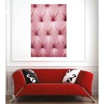 Affiche poster capitonné rose