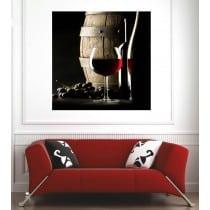 Affiche poster tonneau vin