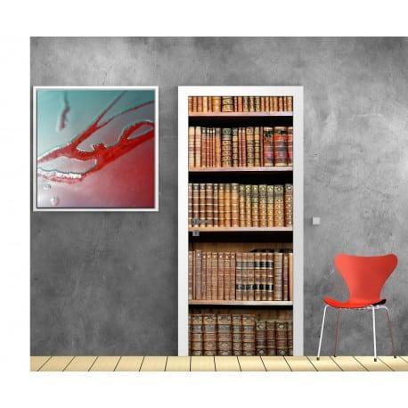 Stickers porte Bibliothèque
