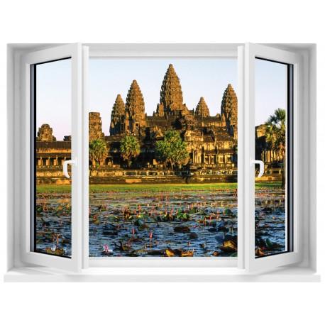 Sticker Fenêtre Temple Angkor