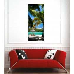 Affiche poster plage palmiers