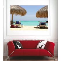 Affiche poster transat plage