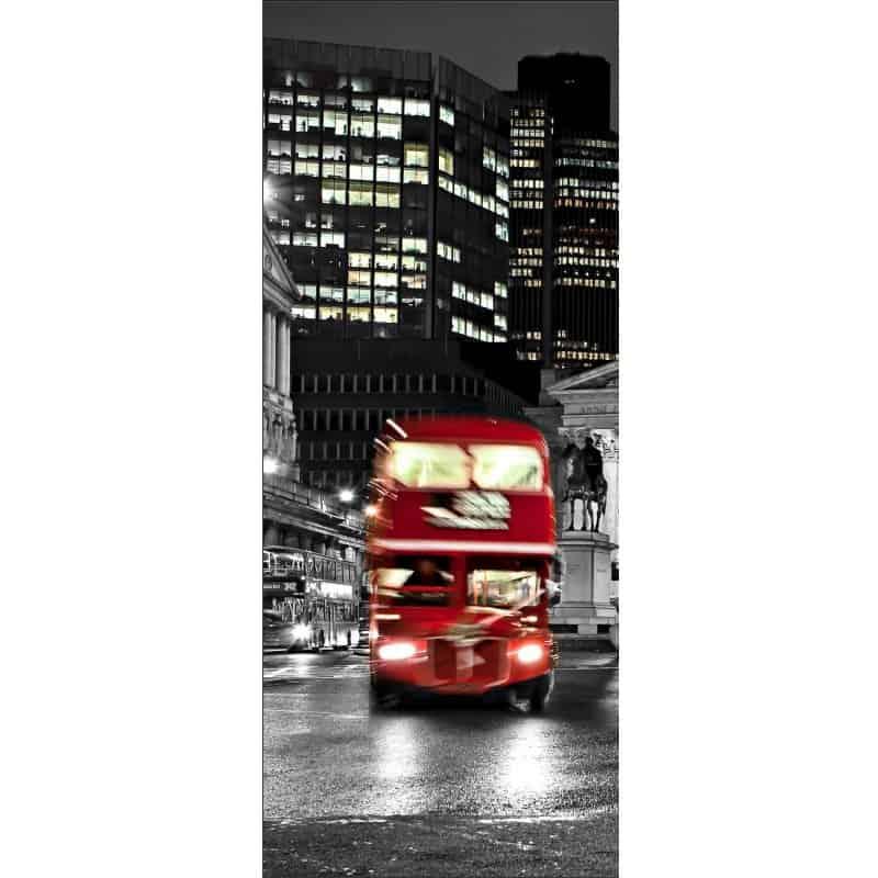 Papier peint porte d co londres bus art d co stickers for Deco londres