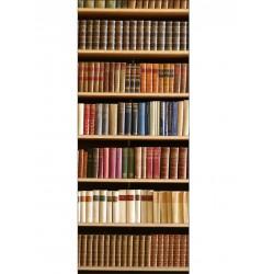 Papier peint porte déco - Bibliothèque