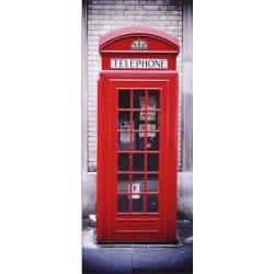 Papier peint porte déco - Cabine téléphonique anglaise