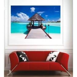 Affiche poster terasse les Maldives