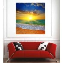 Affiche poster couché de soleil sur la plage