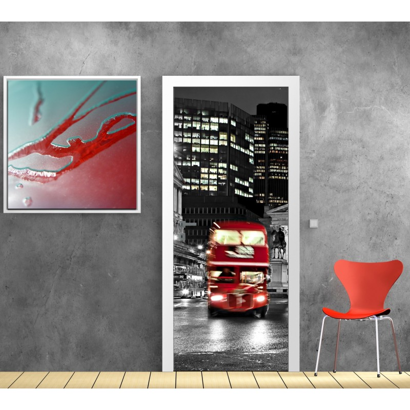 affiche poster porte londres bus art d co stickers. Black Bedroom Furniture Sets. Home Design Ideas