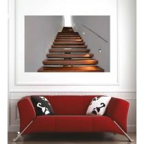 Affiche poster montée d'escaliers