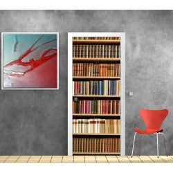 Affiche poster porte Bibliothèque