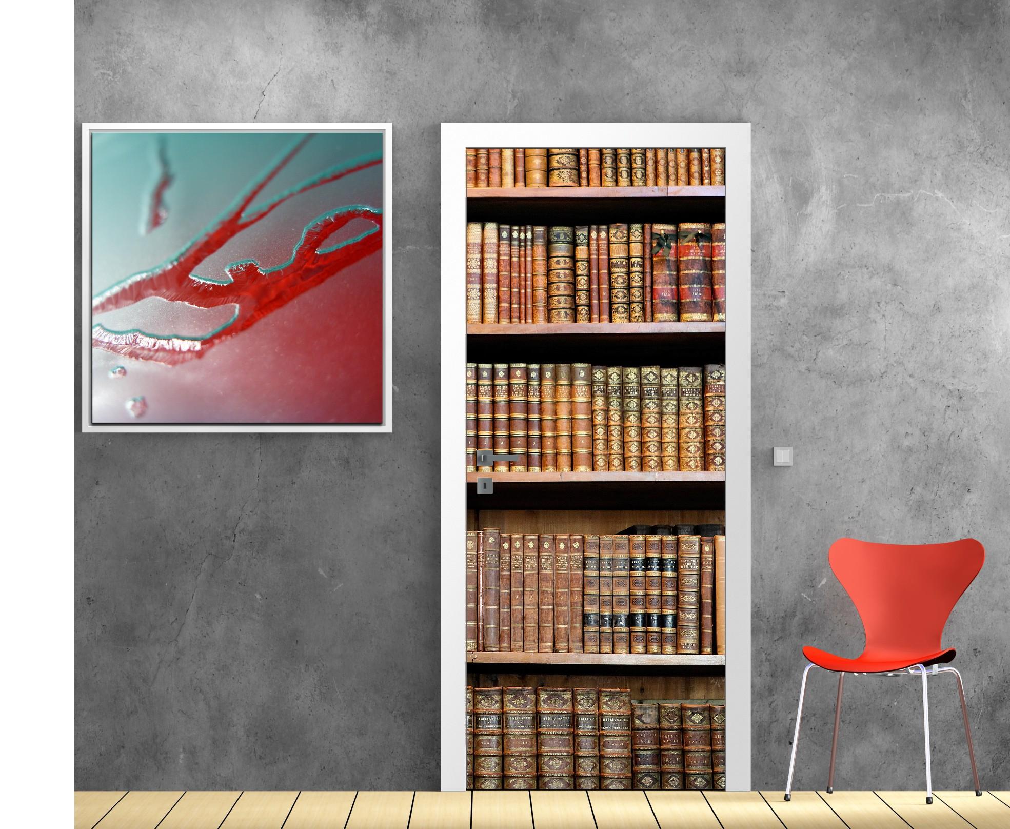 stickers trompe l oeil pour porte free trompe l oeil interieur papier peint trompe loeil. Black Bedroom Furniture Sets. Home Design Ideas