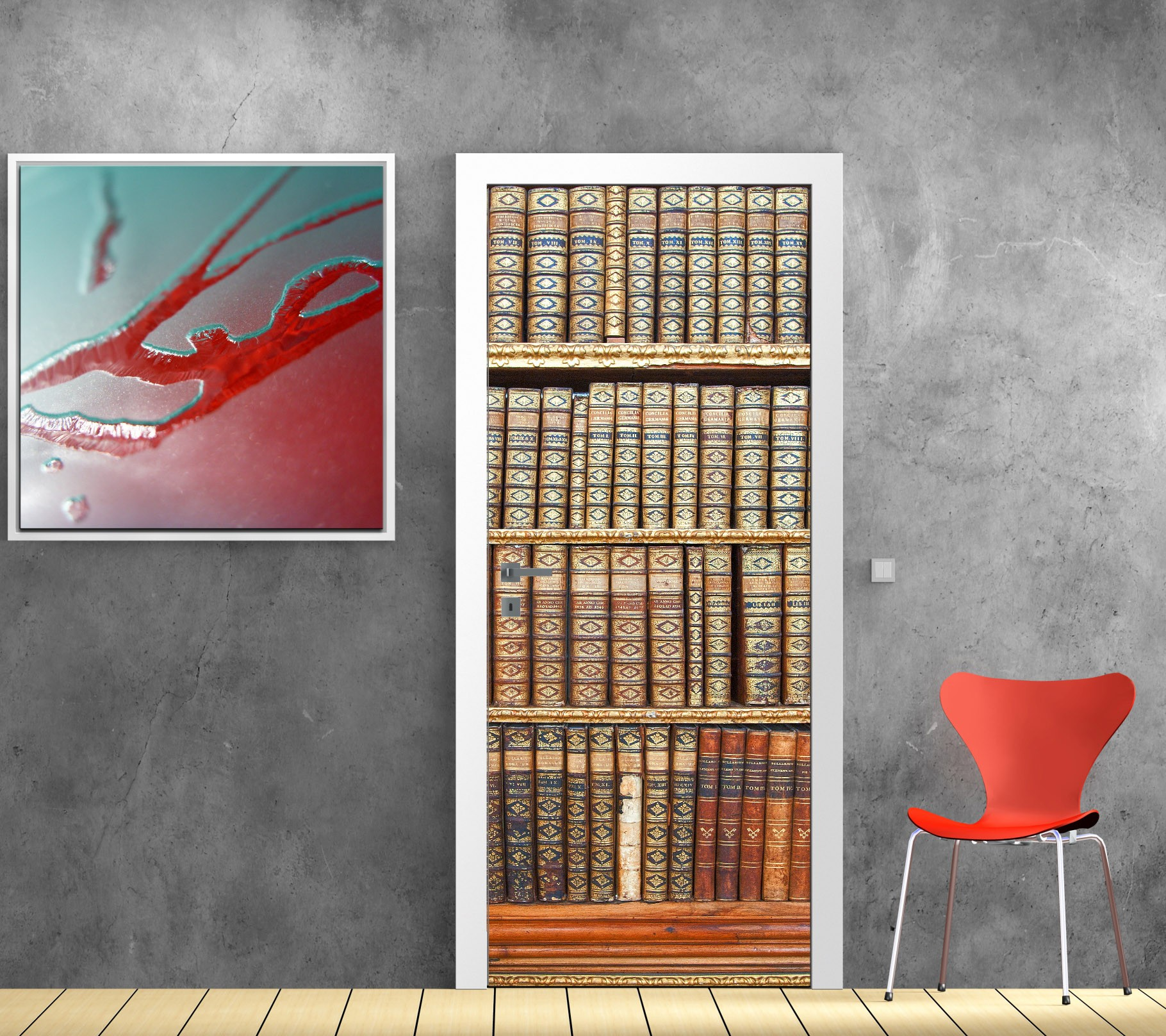 Affiche Poster Porte Bibliotheque Art Deco Stickers