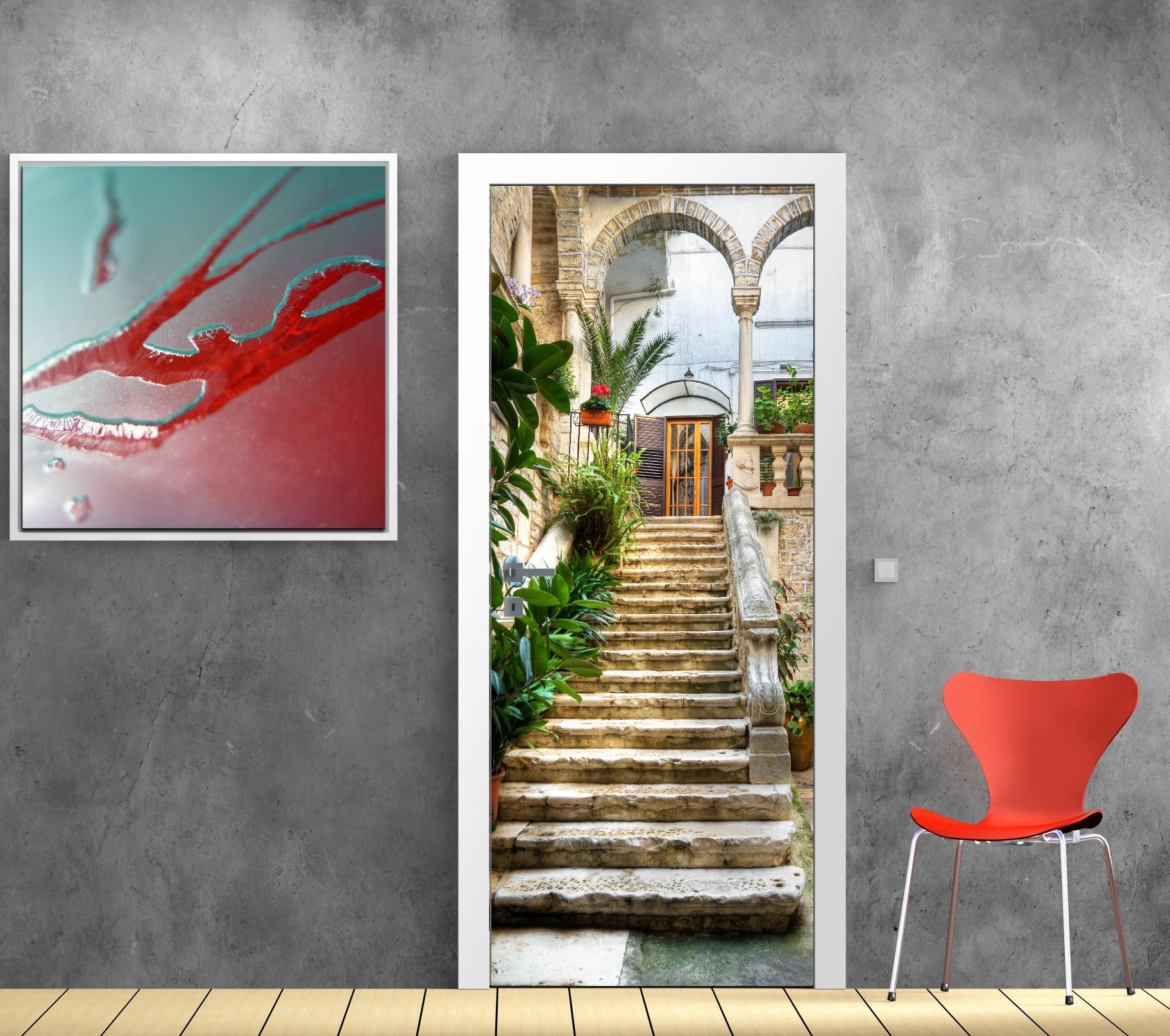 Poster mural trompe l oeil fashion designs for Porte affiche exterieur