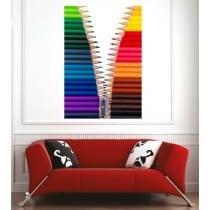 Affiche poster crayons de couleurs