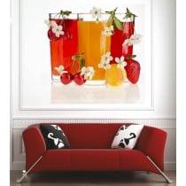 Affiche poster verre de jus de fruits