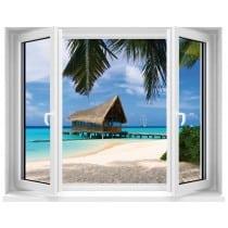 Sticker Fenêtre Maldives