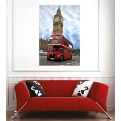 Affiche poster ville bus Londres