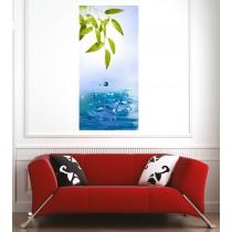 Affiche poster feuille et eau