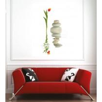 Affiche poster fleur et galets