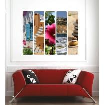 Affiche poster galets fleur paysage